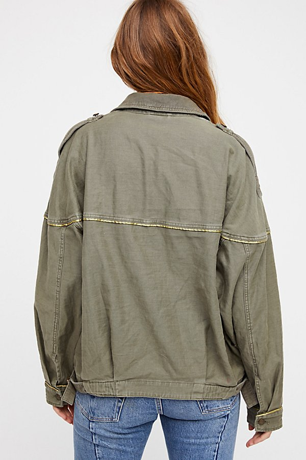 Slide View 3: Slouchy Military Jacket