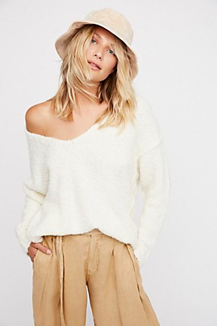 Lofty V Neck Sweater Free People
