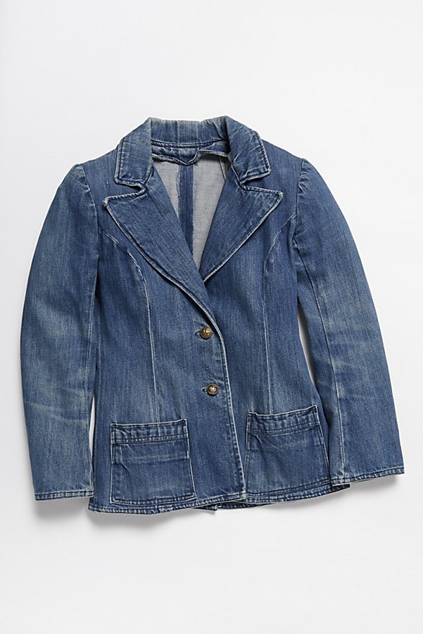 Slide View 1: Vintage 1970s Denim Blazer
