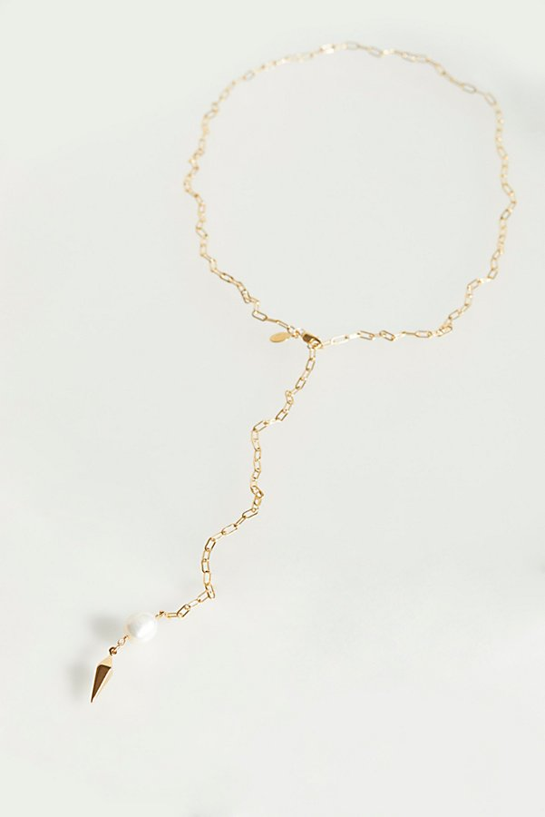 Slide View 2: Pearl Lariat Necklace