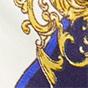 白色 / 蓝色佩斯利涡纹图案