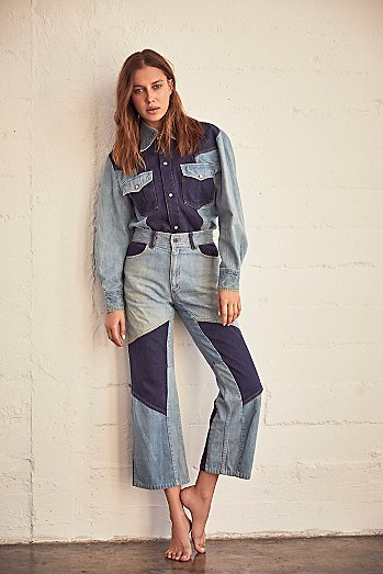 Vintage 1970s Multitone Denim Set