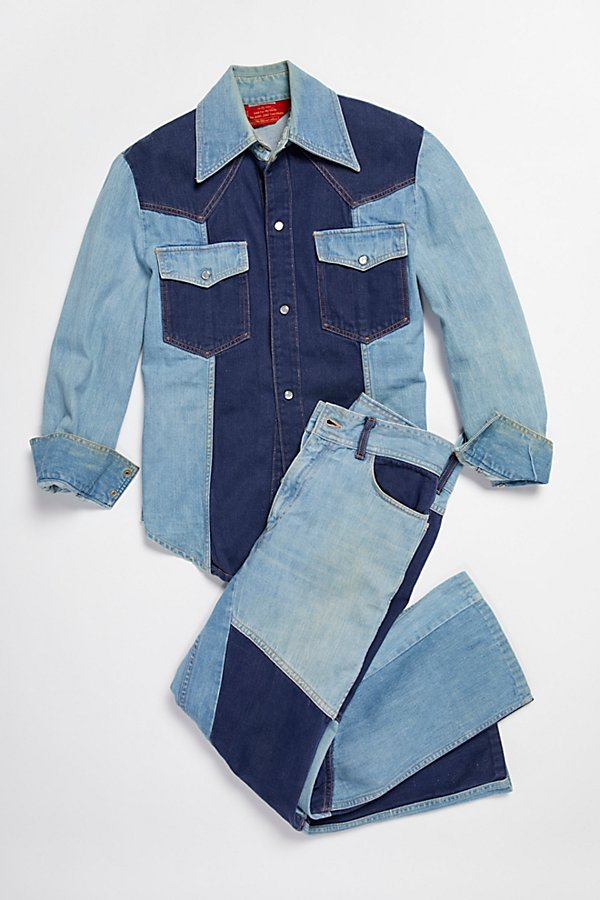 Slide View 2: Vintage 1970s Multitone Denim Set