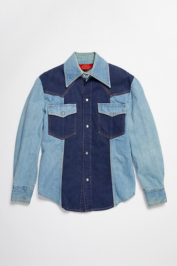 Slide View 3: Vintage 1970s Multitone Denim Set