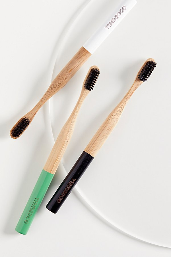 Slide View 1: Goodwell Co. Bamboo + Binchotan Toothbrush