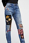 Thumbnail View 3: Luxe Embellished Boyfriend Jeans