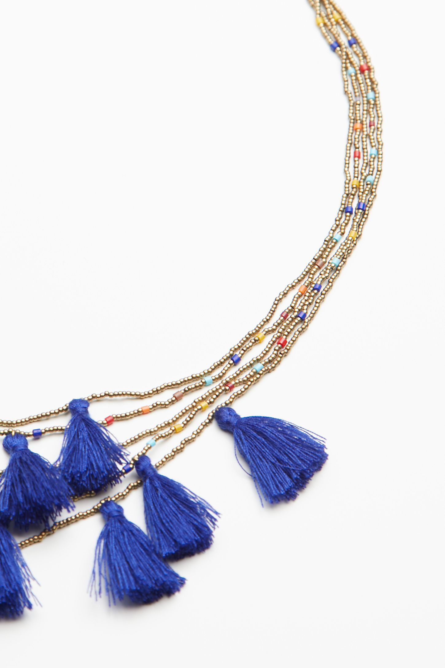 emerson neon fine tassel necklace products victoria beaded