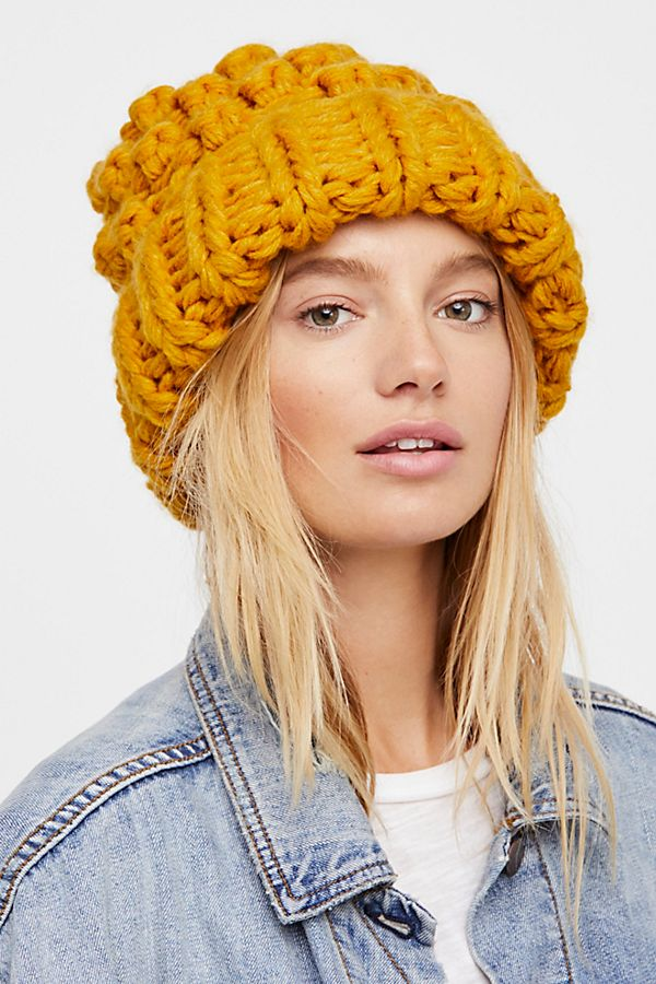 Chunky Bobble Knit Beanie Free People