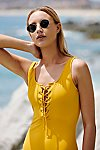Thumbnail View 1: Sunchaser Lace-Up One-Piece Swimsuit