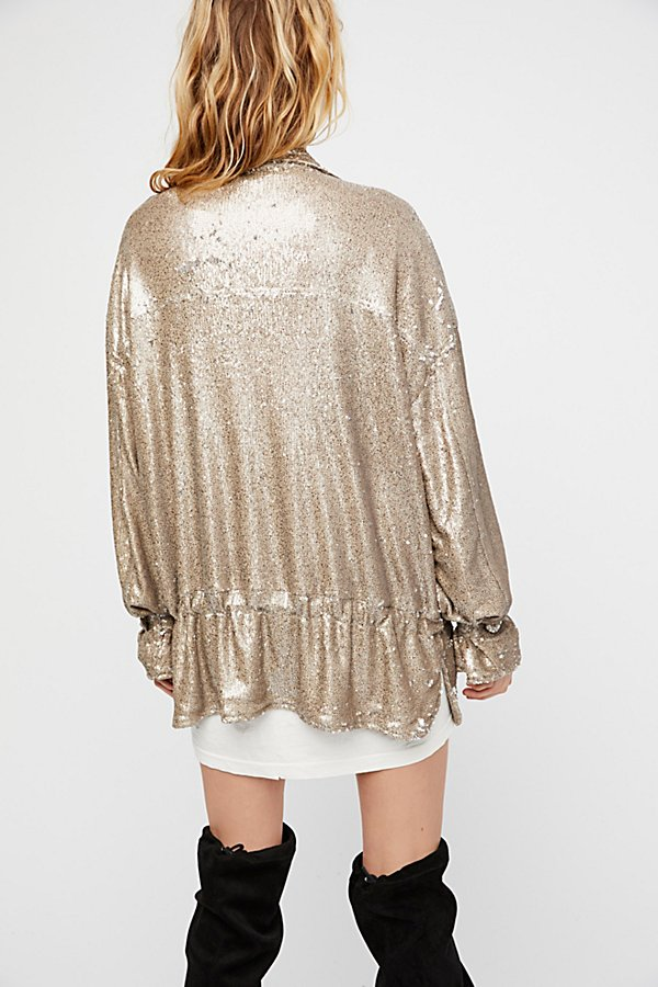 Slide View 5: Slouchy Sequin Jacket