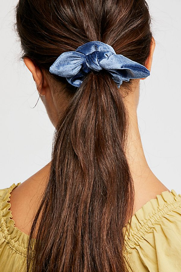Knotted Velvet Scrunchie | Free People