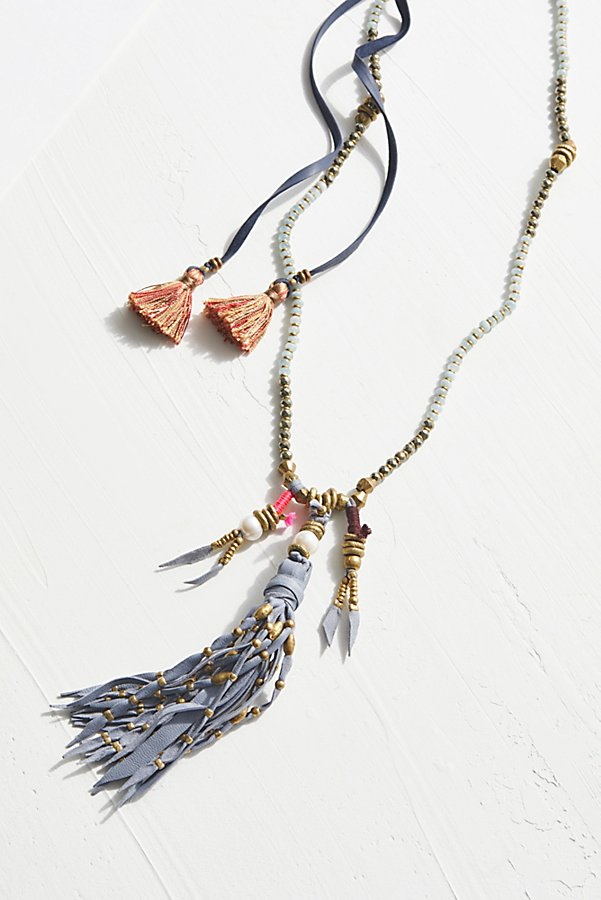 Slide View 2: Dancing Dakini Leather Mala Necklace
