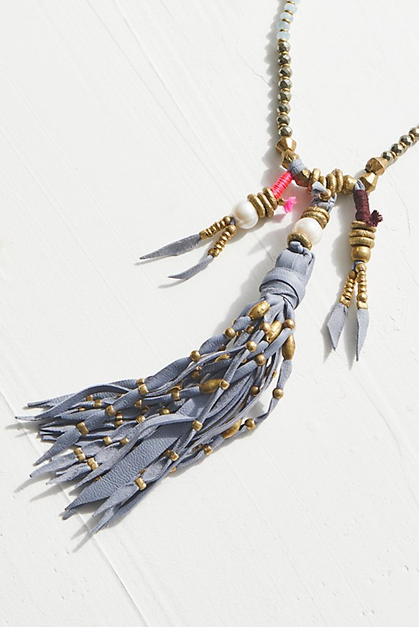 Slide View 5: Dancing Dakini Leather Mala Necklace