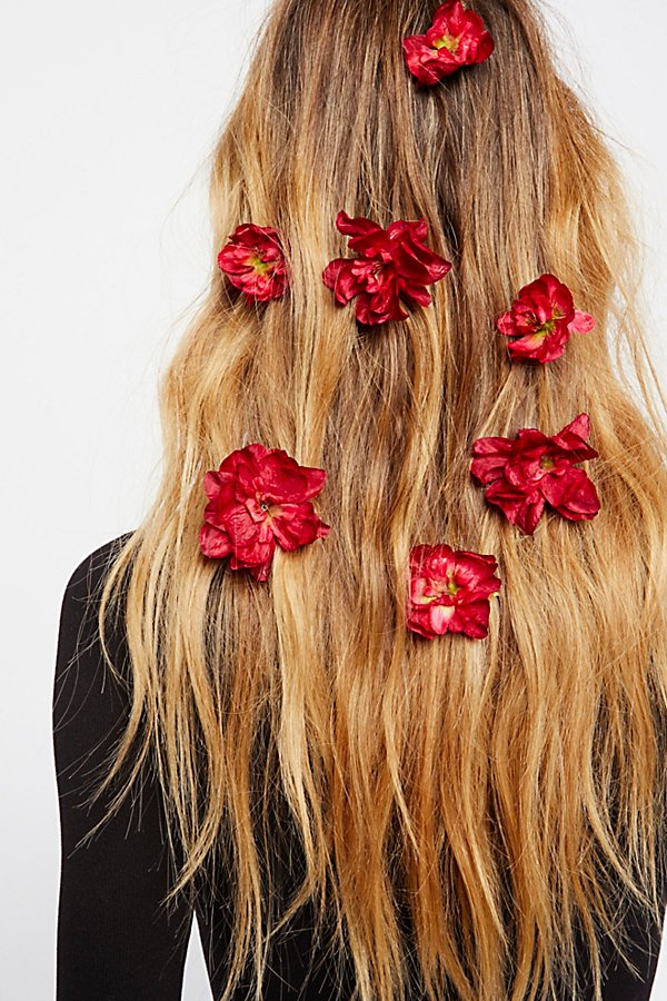 Slide View 1: Franny Flower Hair Pins