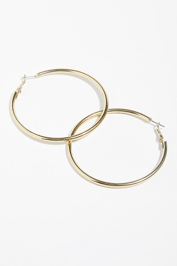 Slide View 3: Essential Tube Hoop Earrings