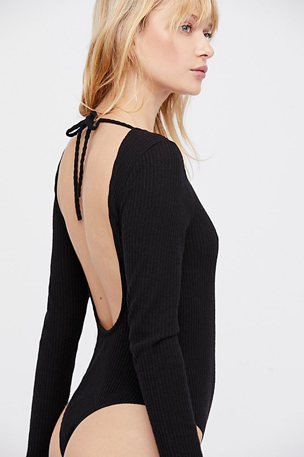 Slide View 2: Natalie Longsleeve Scoop Back Bodysuit