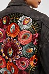 Thumbnail View 4: Oversized Embroidered Denim Jacket