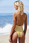 Thumbnail View 3: The Chelsea Stripe One-Piece Swimsuit