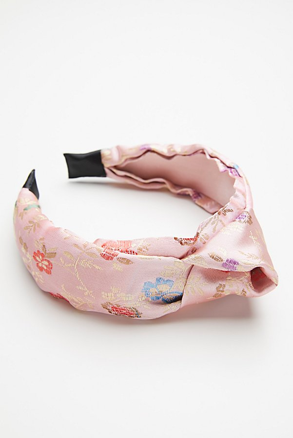 Slide View 3: Knotted Brocade Headband