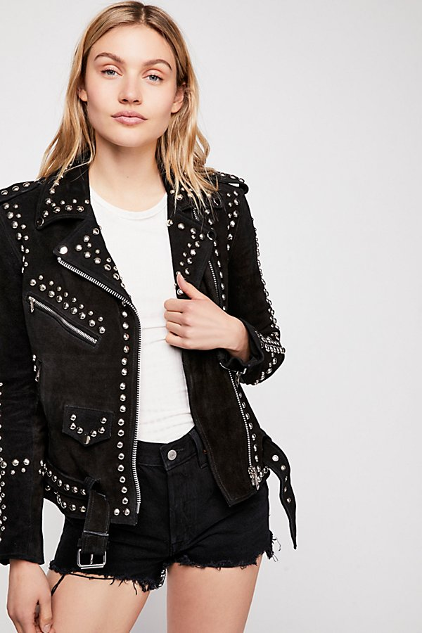 Slide View 2: Studded Easy Rider Jacket