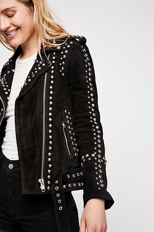 Slide View 1: Studded Easy Rider Jacket
