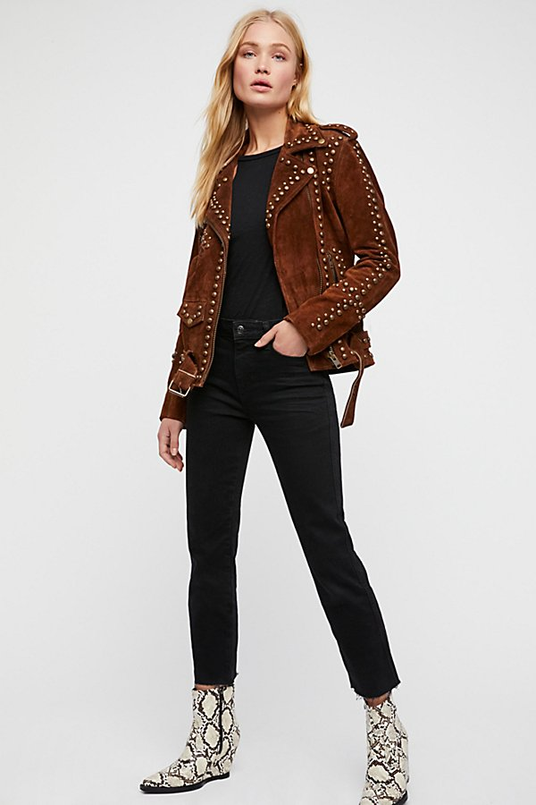 Slide View 4: Studded Easy Rider Jacket
