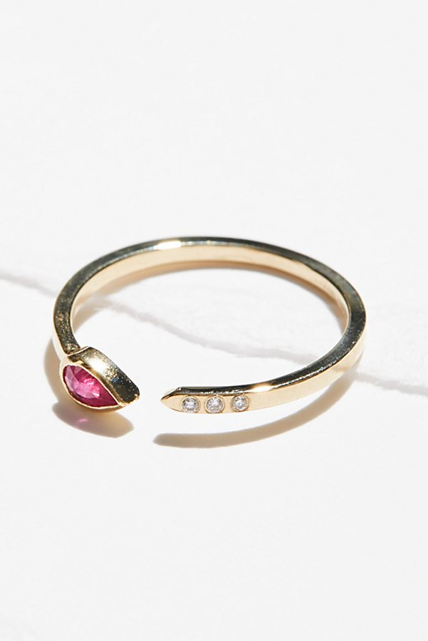 Slide View 3: 14k Ruby Astral 3 Diamond Ring