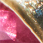 14k Gold / Ruby / 3 Diamonds
