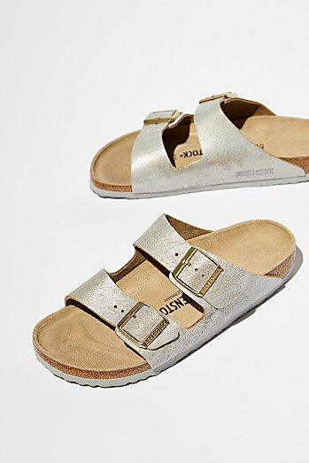Arizona Washed Metallic Birkenstock Sandal