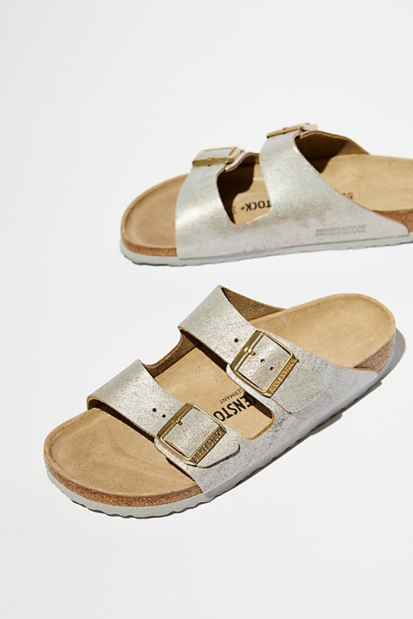 Slide View 1: Arizona Washed Metallic Birkenstock Sandal