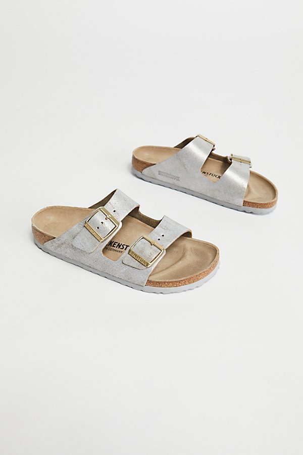 Slide View 2: Arizona Washed Metallic Birkenstock Sandal