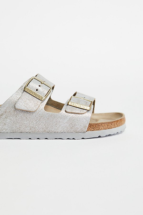 Slide View 3: Arizona Washed Metallic Birkenstock Sandal
