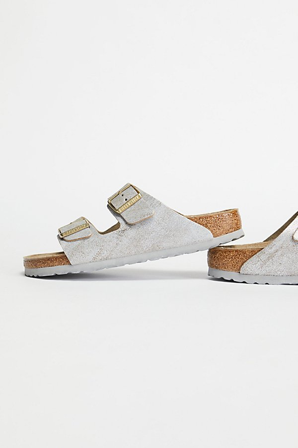 Slide View 4: Arizona Washed Metallic Birkenstock Sandal