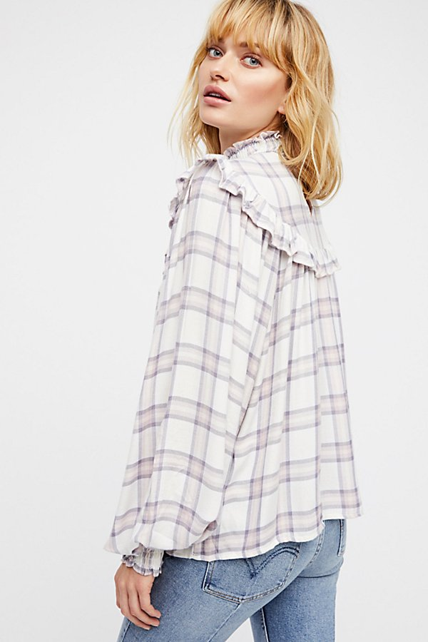 Slide View 2: Charlie Ruffle Plaid Top
