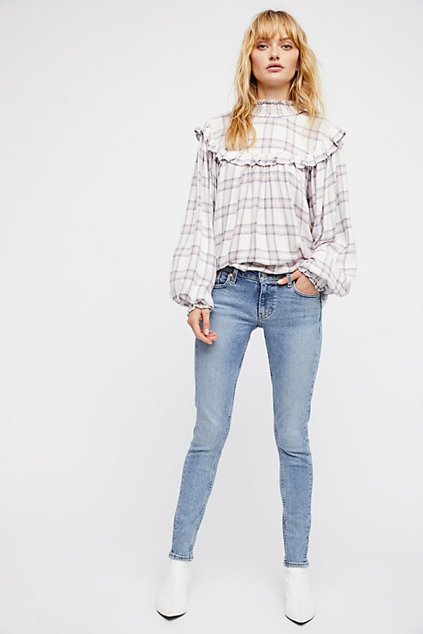 Slide View 5: Charlie Ruffle Plaid Top