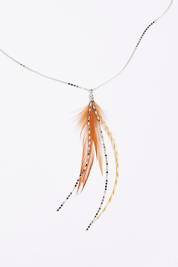 Slide View 2: Glistening Delicate Feather Necklace