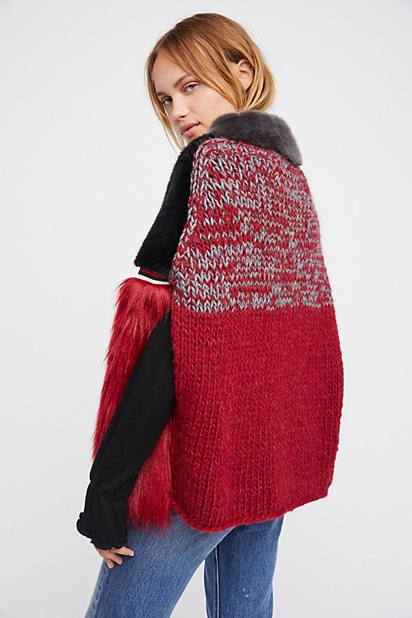 Slide View 2: Cross Line Rebel Faux Fur Cape