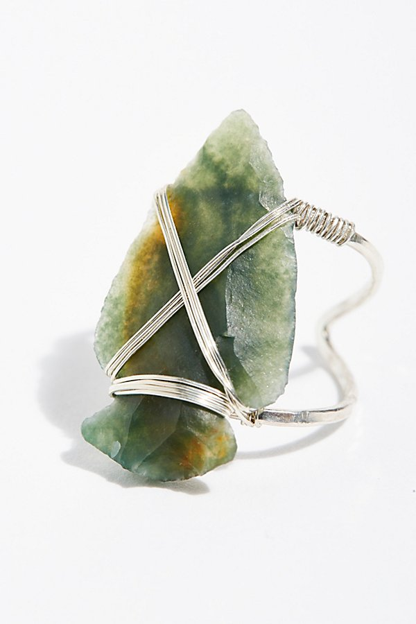 Slide View 2: Coyote Crystal Arrowhead Ring