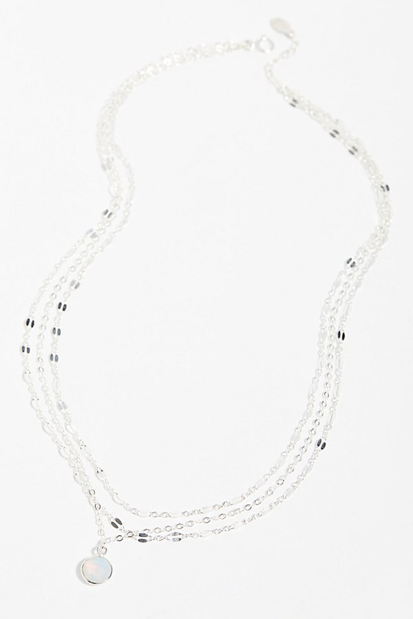 Slide View 3: Triple Delicate Stone Necklace