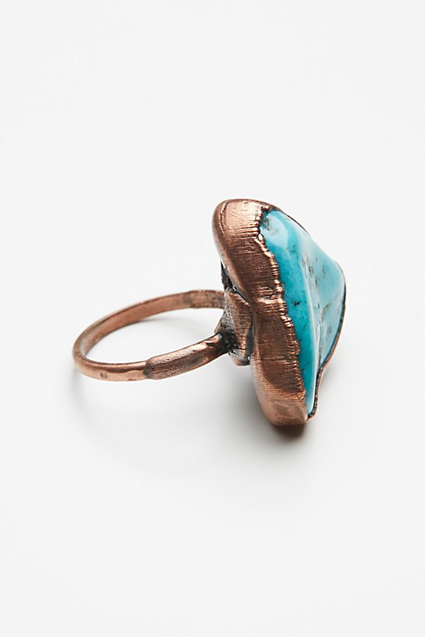 Slide View 4: Turquoise Electroform Ring