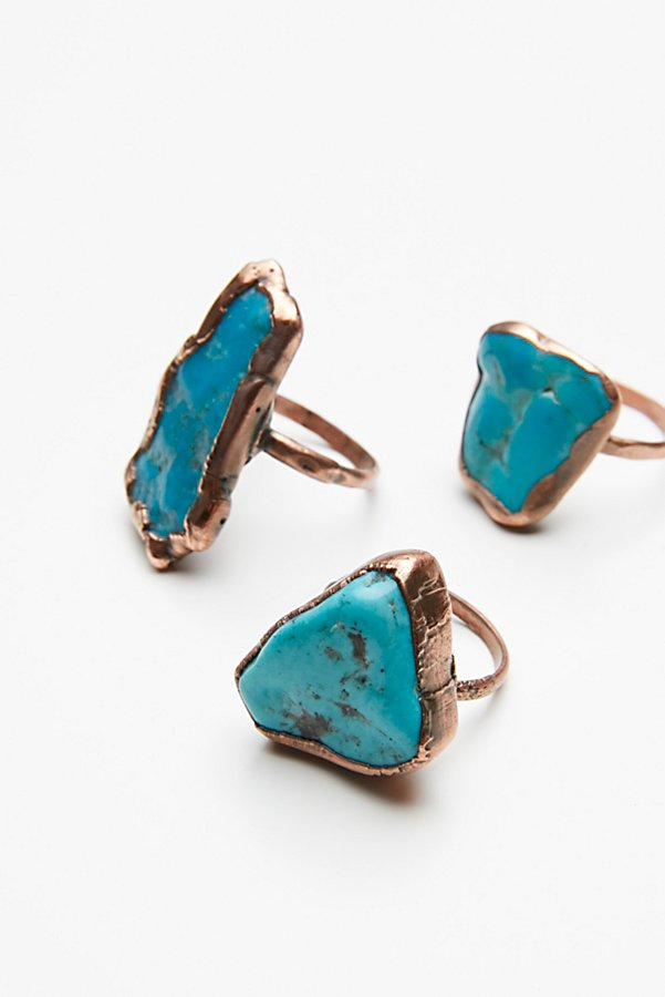 Slide View 5: Turquoise Electroform Ring