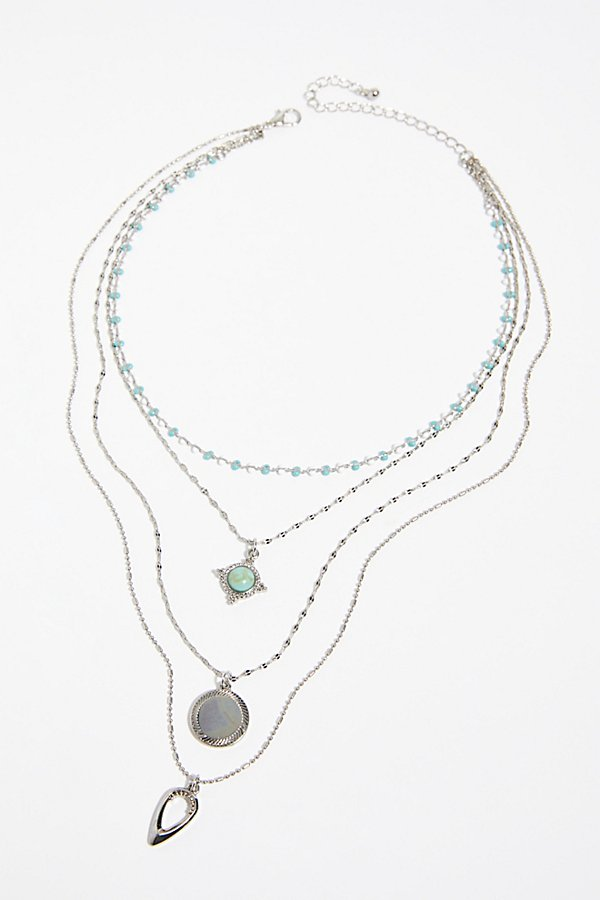 Slide View 2: Delicate Tiered Stone Necklace