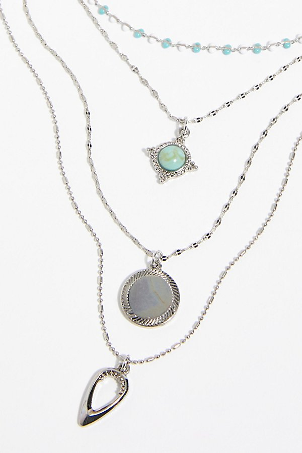 Slide View 3: Delicate Tiered Stone Necklace