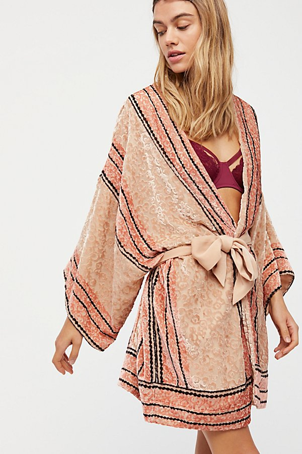Slide View 1: Natalie Burnout Robe