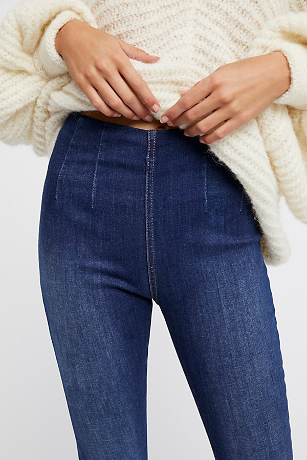 Slide View 3: Ultra-High Pull-On Skinny Jeans
