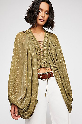 Lilia Lace-Up Blouse