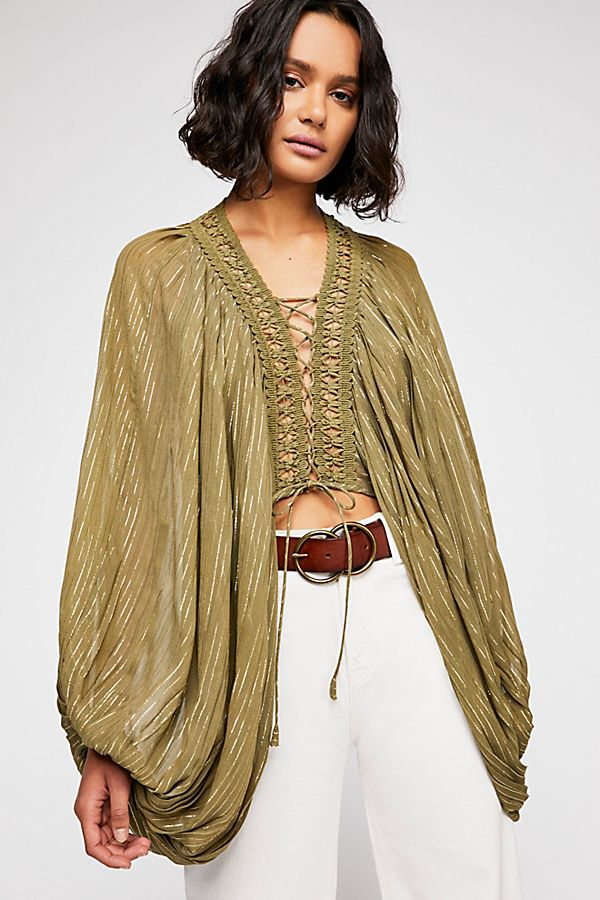 Lilia Lace-Up Blouse | Free People