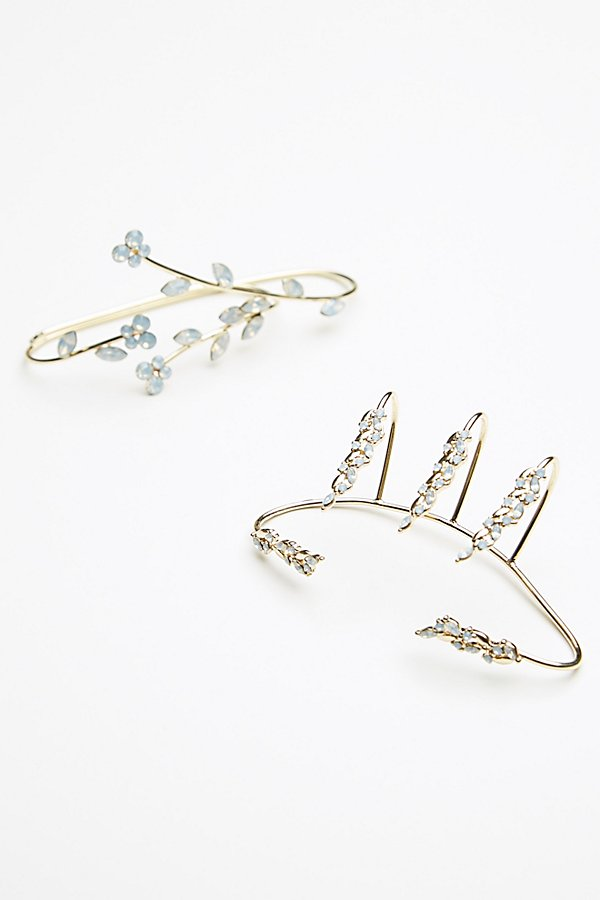 Slide View 1: Delicate Crystal Palm Cuff Set