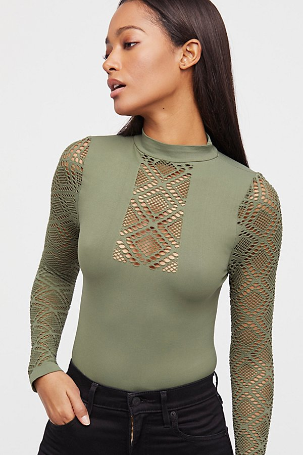 Slide View 4: Fishnet Bodysuit