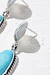 Thumbnail View 2: Sterling Turquoise Drop Earrings